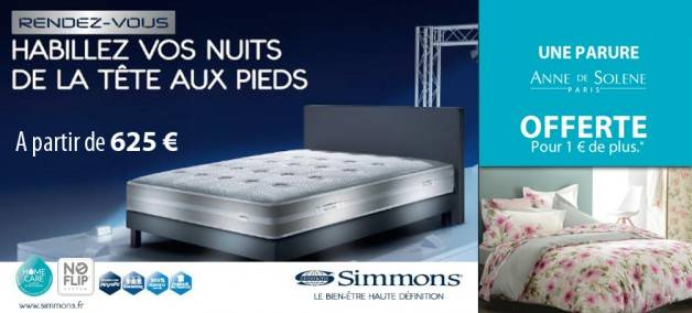 matelas rendez vous 2015 simmons magasin de literie. Black Bedroom Furniture Sets. Home Design Ideas
